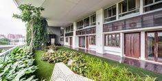 Design Hub - блог о дизайне интерьера, красивых домах, архитектуре, городской среде: Висячие сады в жилом комплексе в Сингапуре