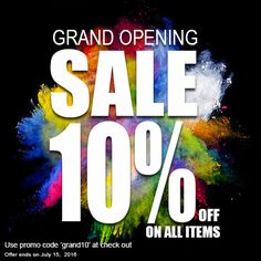 We are having an EXCLUSIVE sale week for our GRAND OPENING! Save 10% OFF on ANY ITEM, for one week only! Use promo code 'grand10' at check out. You don't want to miss out! #miajewelshop #handmadejewelry #handmadebags #accessories #jewelry #bags #handmade #sale #grandopening