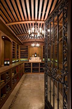Now here's a space that would make any wine lover envious!   How would you like your own private wine cellar?