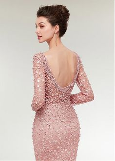 Leyidress Womne's Pink Pearl Lace Crystal Mermaid Evening Dresses Party Long Sleeve Prom Dresses Bridal Pageant Gown US – Get Cheap Deals Prom Party Dresses, Party Gowns, Bridal Dresses, Dress Party, Princess Dress Up, Prom Dresses Long With Sleeves, Dress Robes, Lace Dress, Pageant Gowns