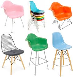 colourful eames chairs