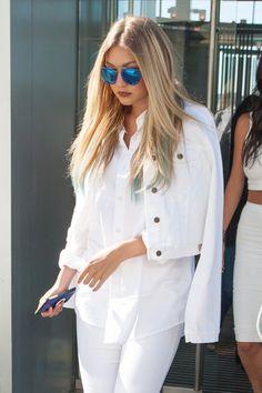 No lugar do típico cabelo ondulado com estilo praia, Gigi Hadid, Allison Williams e Olivia Munn aderiram a um look liso nesse verão. Arrasaram!
