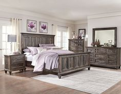 Calistoga 7-Piece King Bedroom Package - Weathered Charcoal | The Brick