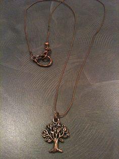 Bronze tree necklace