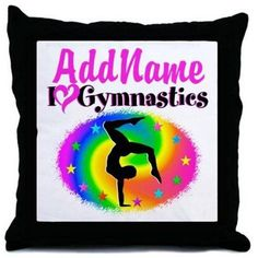 Cafepress Personalized Gymnast Star Throw Pillow, Multicolor
