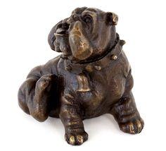 Tierbronze - Kratzende Englische Bulldogge - Wiener Bronze - 89,-euro