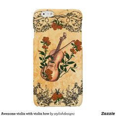 Awesome violin with violin bow glossy iPhone 6 case #S6GTP