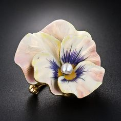 I think this one is lovely. Art Nouveau Enamel Pansy Pin