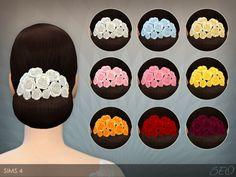BEO Creations: Flowers for elegant bun hair • Sims 4 Downloads