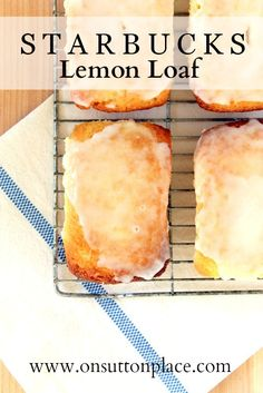 This copy cat recipe for Starbucks Lemon Loaf is so fresh, so moist and so pretty it will become one of your go-to desserts! onsuttonplace.com
