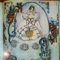 Instagram media paulo_andre_ferreira - 『ファッションぬり絵』(文化出版局)のイラストを著者自身が塗ったものです。使用した画材や技法をご紹介します。今回のイラストは、80年代の豪華なウェディングドレスを描いたものです。この時代、特にダイアナ妃のウェディングドレスに影響を受けたドレスが流行りました。この着色例では、着色をする前にドレスの部分に無色のロウソク(洋ロウソク)を擦りつけて、パラフィンワックス(ロウソクの成分)による防水加工を施しました。その後、水彩で着色していきました。 図柄のその他の部分にもこの手法を用いました。注:この手法を用いる場合は、事前に別の紙で試してみましょう(ロウソクのパラフィンワックスを擦りつけてから水彩絵の具を塗ってみて、どのように見えるか確認)。 #ファッションぬり絵 #大人の塗り絵 #コロリアージュ #塗り絵 #おとなのぬりえ #ファッション #ウェディングドレス #ブライダルファッション #ドレス #80年代 #80年代ファッション #ダイアナ妃  #coloring #coloringforadults…