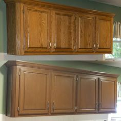 Home Makeover. Staining CabinetsOak CabinetsCabinet TransformationsRustoleum  ...