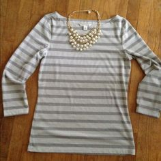 Banana Republic Shimmer Striped Top Very pretty top. Never worn. Size women's medium. Shimmery, see second picture. Very cute! Would be great for a holiday party. Banana Republic Tops Blouses