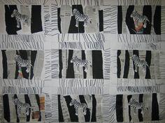 noir et blanc : le zèbre