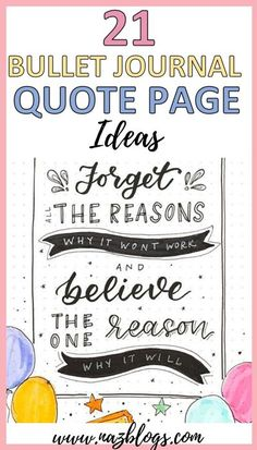 Find the best quote page ideas for bullet journal | Inspirational quotes for 2020 | Quote pages to stay motivated and gain confidence to get your work done #quotepage #bulletjournalquotepage #quotepageideas Bullet Journal Quotes, Bullet Journal Tracker, Bullet Journal How To Start A, Bullet Journal Themes, Bullet Journal Layout, Bullet Journal Inspiration, Bujo, Dotted Page, Fantastic Quotes