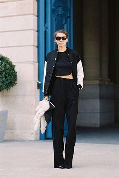 key piece, varsity jacket Vanessa Jackman: Paris Fashion Week AW 2013