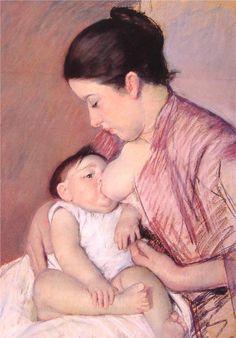 Maternity, Mary Cassatt, pastel, 44.4x68.6 cm.