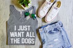 i just want all the dog tank top