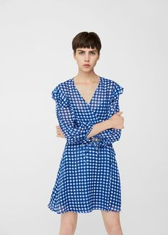 Robe à carreaux -  Femme | MANGO France