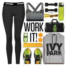 """Slay All Day: Style Beyonce's Ivy Park!"" by trendsbybren ❤ liked on Polyvore featuring Ivy Park, Topshop, Nalgene, New Balance, Casall and adidas"