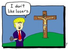 """Thieves have stolen a controversial church billboard featuring an illustrated image of Donald Trump calling Jesus Christ a """"loser"""" — a message that gained international attention after it was posted byThe Community of Saint Luke, a house of worship in Auckland, New Zealand.  """"On the day before Good..."""