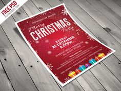 Freebie : Christmas Party Flyer Template Free PSD by PSD Freebies - Dribbble