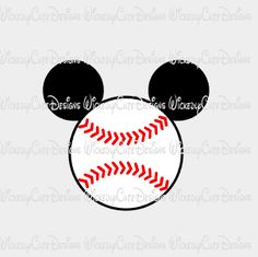 Disney Boys, Disney Fun, Disney Trips, Silhouette Projects, Silhouette Design, Silhouette Files, Baseball Nails, Baseball Party, Baseball Season