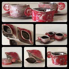 Coffee cups by Fehérvári Ildikó (handmade ceramic)
