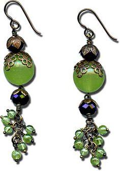 Rings & Things | Design Gallery | Earrings | Grapes of Brass Earrings