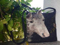 Сумка с лошадью авторская зимняя  сумка сумка с от MariaAgafos