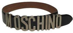 Moschino Moschino Vintage Redwall Leather Belt IT 42