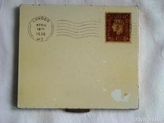 VINTAGE NOVELTY/FIGURAL ENVELOPE WITH KING GEORGE VI STAMP POWDER COMPACT 1939 | eBay