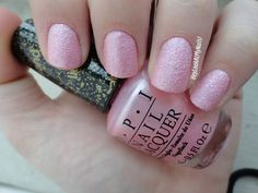 """Pussy Galore"" OPI Bond Girl Liquid Sand toes for wedding Cute Nails, Pretty Nails, Hair And Nails, My Nails, Light Pink Nail Polish, Sand Nails, The Maxx, Colorful Nail Designs, Nail Polish Designs"