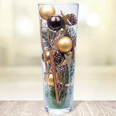 11 // Kugelvase Goldene Zeiten - Glasvase festlich inszeniert! #Weihnachten…