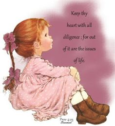 Keep thy heart with all diligence; for out of it are the issues of life. Proverbs 4:23. Amen!