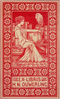 Ex Libris H.N. Ouwerling - Auteur - Jacobs, J. - 1920. https://www.facebook.com/Regionaal.Historisch.Centrum.Eindhoven.RHCe