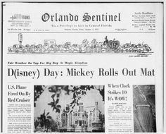 Florida Images, Never The Same, 50 Years Ago, Central Florida, Magic Kingdom, Walt Disney World