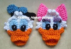 Knotty Hooker Designs: Donald & Daisy Duck Inspired Appliques