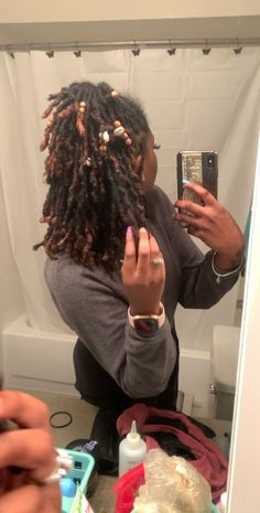 loc view - # natural hair - You are in the right place about Beauty words Here we offer you the most beauti. Half Dreads, Pretty Dreads, Beautiful Dreadlocks, Natural Hair Journey, Natural Hair Care, Natural Hair Styles, Natural Dreads, Natural Hair Twists, Extensions Ombre