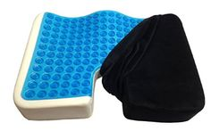 Kieba Coccyx Seat Cushion, Cool Gel Memory Foam Large Orthopedic Tailbone Pillow for Sciatica