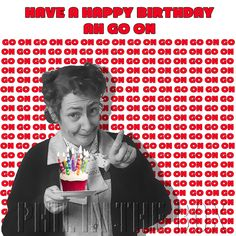 A personal favourite from my Etsy shop https://www.etsy.com/uk/listing/512015000/mrs-doyle-birthday-card-father-ted