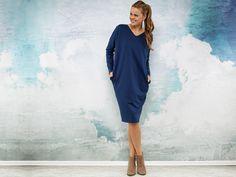 Langes, blaues Kleid für den Alltag / blue dress by Karolina Garczynska via DaWanda.com