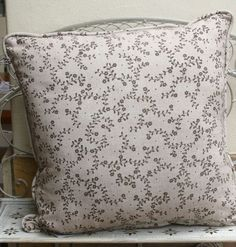 These cushions are double sided with floral detail on reverse. Available in two sizes: x & x Soft Furnishings, Cutlery, Cushions, Throw Pillows, Beige, Detail, Floral, Toss Pillows, Toss Pillows