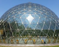 Dome-shaped buildings Source by Geodesic Dome Greenhouse, Geodesic Dome Homes, Diy Greenhouse, Great Buildings And Structures, Steel Buildings, Modern Buildings, Dome Structure, Building Structure, Environmental Architecture