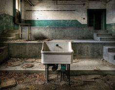 Abandoned hospital school's autopsy theater