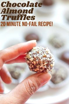 These Chocolate Almond Truffles take only 25 minutes to make, and have just 4 main ingredients! | Indian Dessert Recipe | Ladoo | Kid friendly healthy dessert | #glutenfreerecipe #quickdessert | pipingpotcurry.com Paneer Recipes, Curry Recipes, Vegetarian Recipes, Indian Fish Recipes, Indian Dessert Recipes, Fudge, Coconut Ladoo Recipe, Indian Cookies, Cheesecake