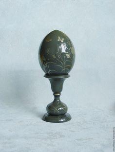 Купить Подарок на Пасху яйцо пасхальное Полевые цветы серый - яйцо пасхальное яйцо, роспись
