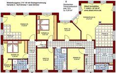 Winkelbungalow 119 49  mit Einliegerwohnung Einfamilienhaus Neubau Massivbau Sein auf Stein