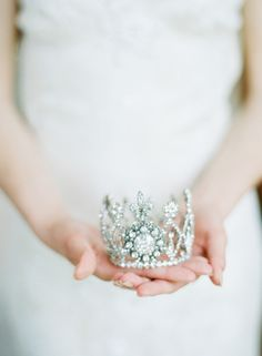 Princess-worthy tiara: http://www.stylemepretty.com/collection/3000/