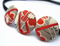 Ribbon Button Headband from Gazzu etsy store #etsy #heartsy